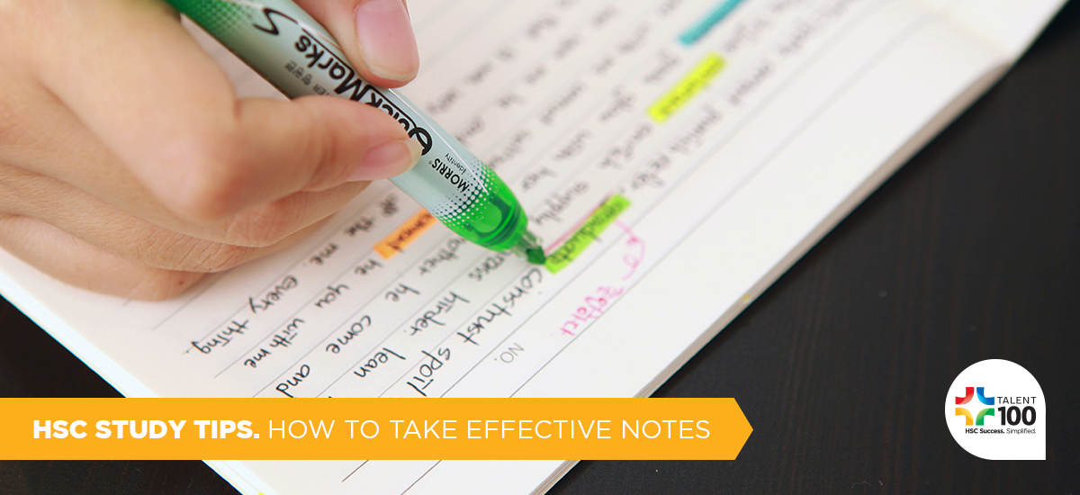 Note Taking In The HSC: What To Avoid | Talent 100 Education