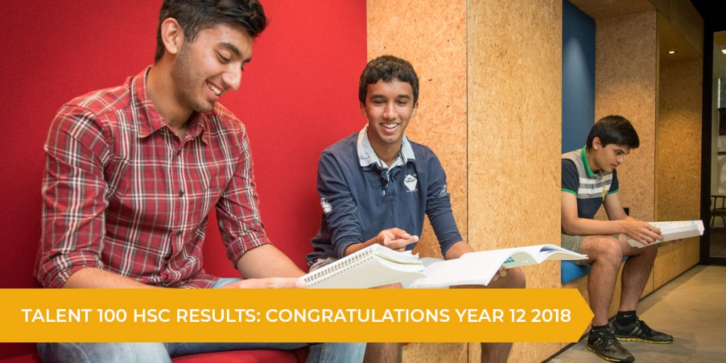 Talent 100 HSC Results: Year 12 2018