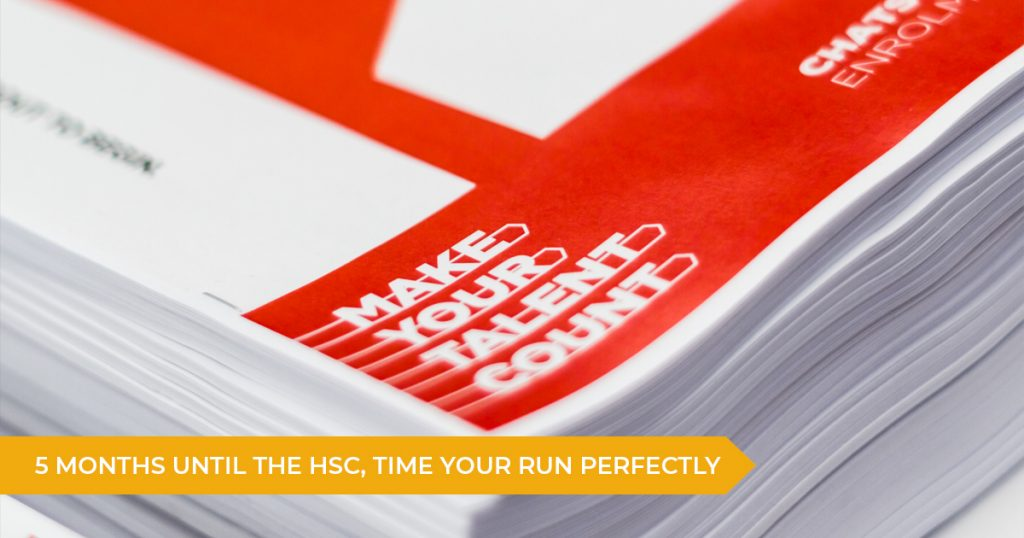 Attention Year 12 Students: 5 Months Until The HSC, Time Your Run Perfectly