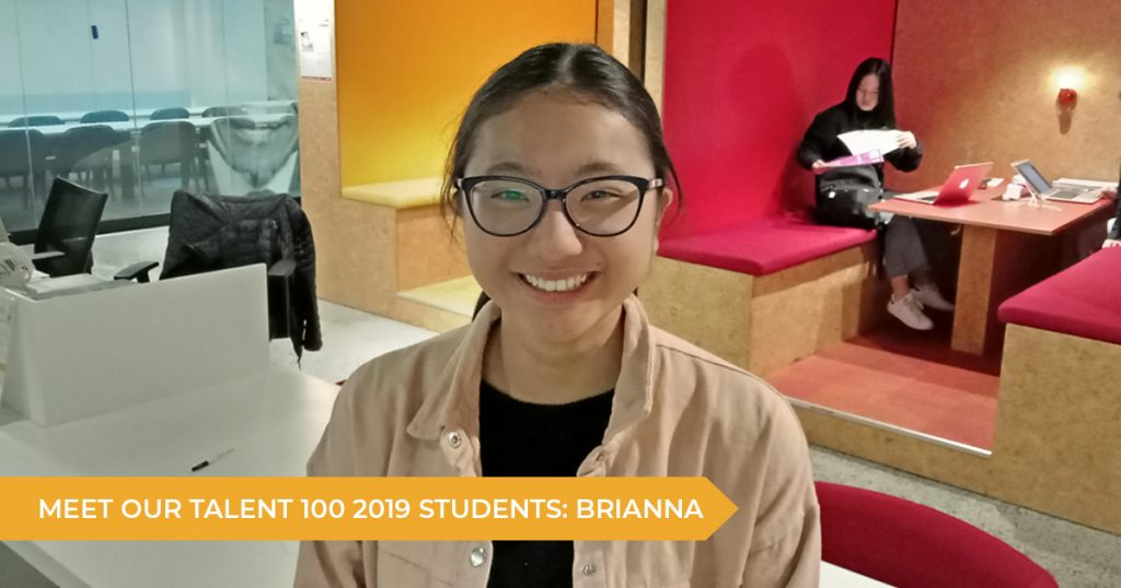 Meet Our Talent 100 Students: Brianna (Year 11)