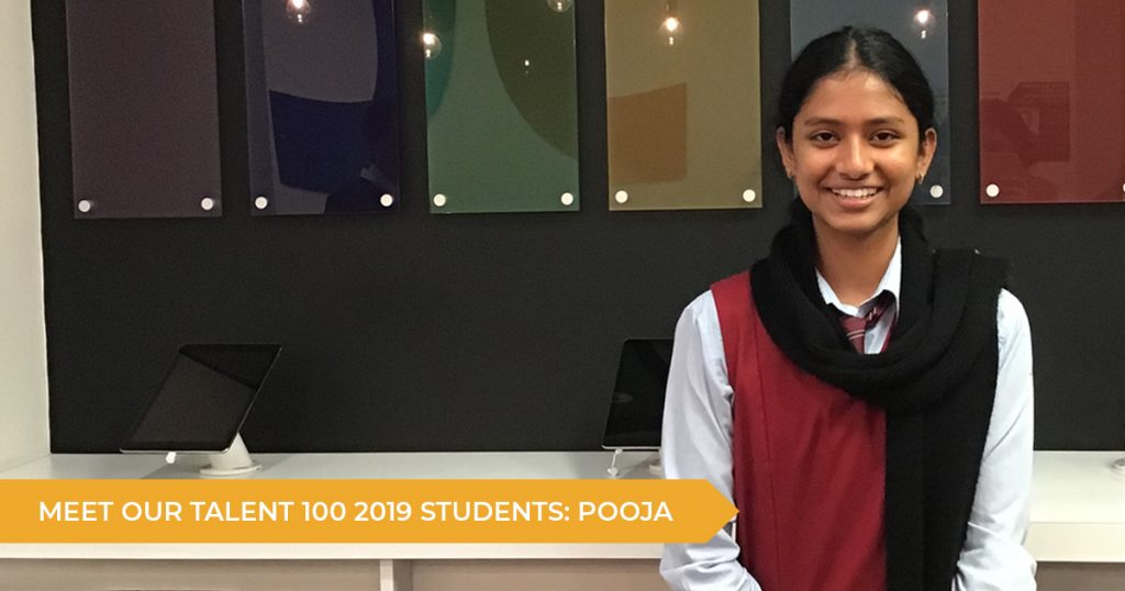 Meet Our Talent 100 Students: Pooja (Year 12)