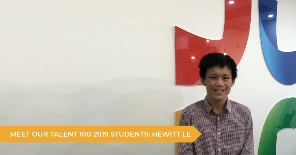 Meet Our Talent 100 Students: Hewitt (Year 12 2019)