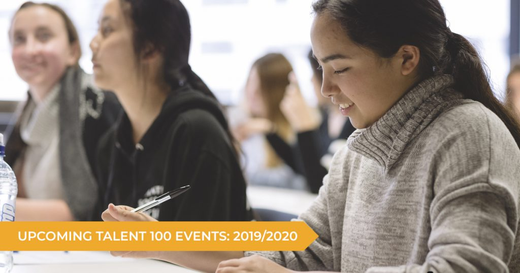 Upcoming Events: Talent 100 2019/2020