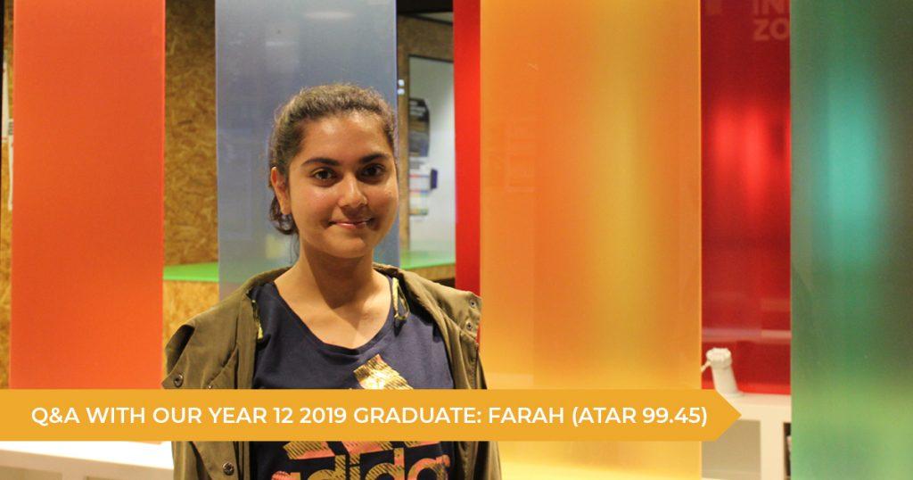 Q&A With A 2019 HSC Student: Farah (ATAR 99.45)