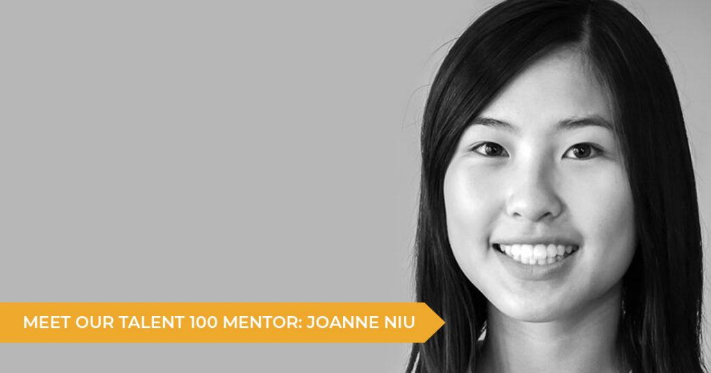 Meet Your Talent 100 Mentor: Joanne Niu
