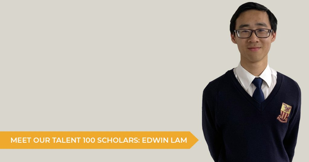 Meet Our Talent 100 Scholarship Students: Edwin