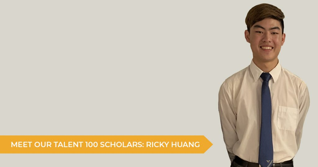 Meet Our Talent 100 Scholarship Students: Ricky