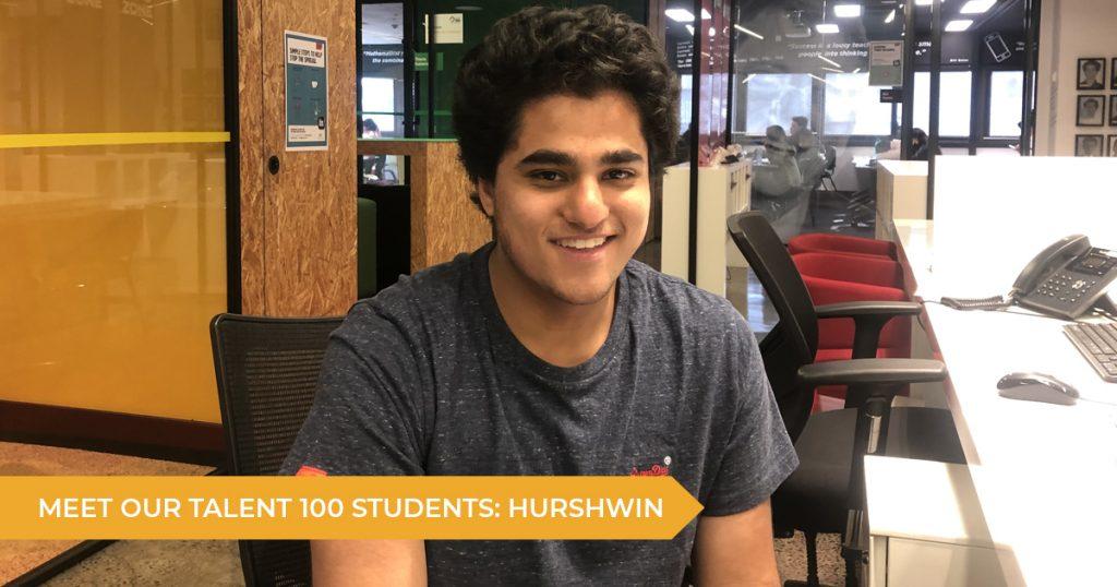 Meet Our Talent 100 Student: Hurshwin   Talent 100 Education