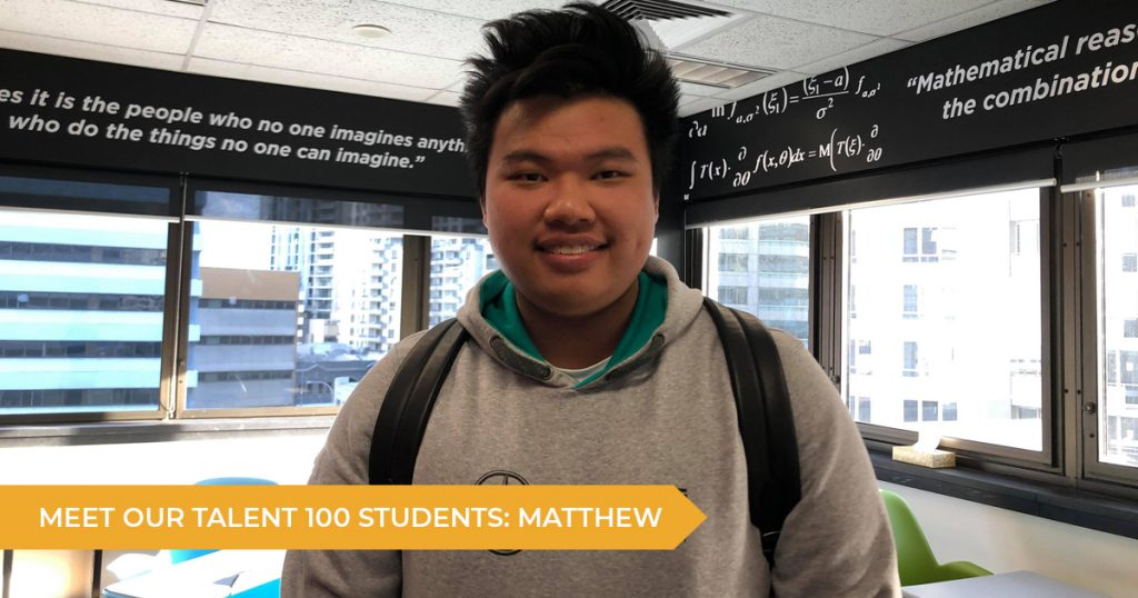 Meet Our Talent 100 Student: Matthew