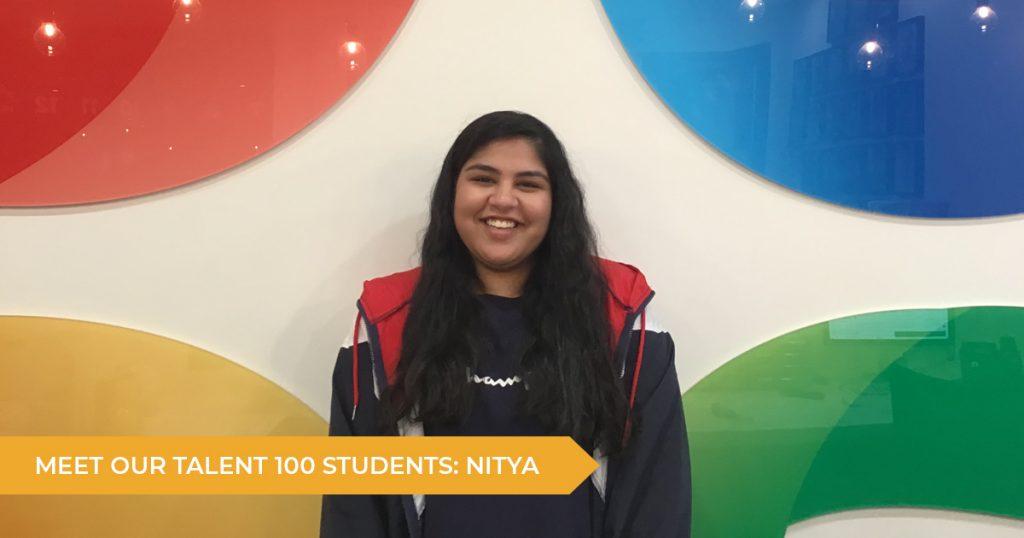 Meet our Talent 100 Student: Nitya