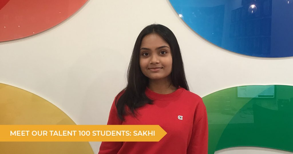 Meet our Talent 100 Student: Sakhi